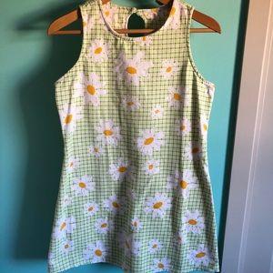 VTG 90s Does 60s Floral Mini Dress